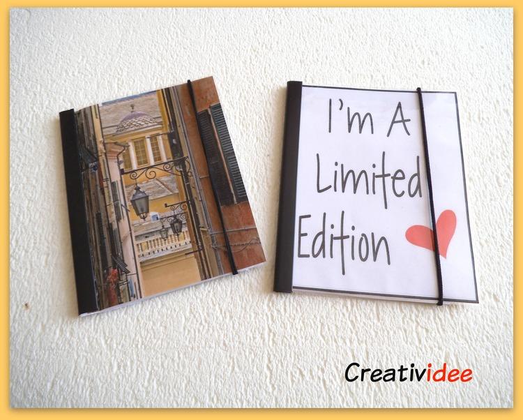 Quaderni fai da te con immagini personalizzate carta e for Porta quaderni