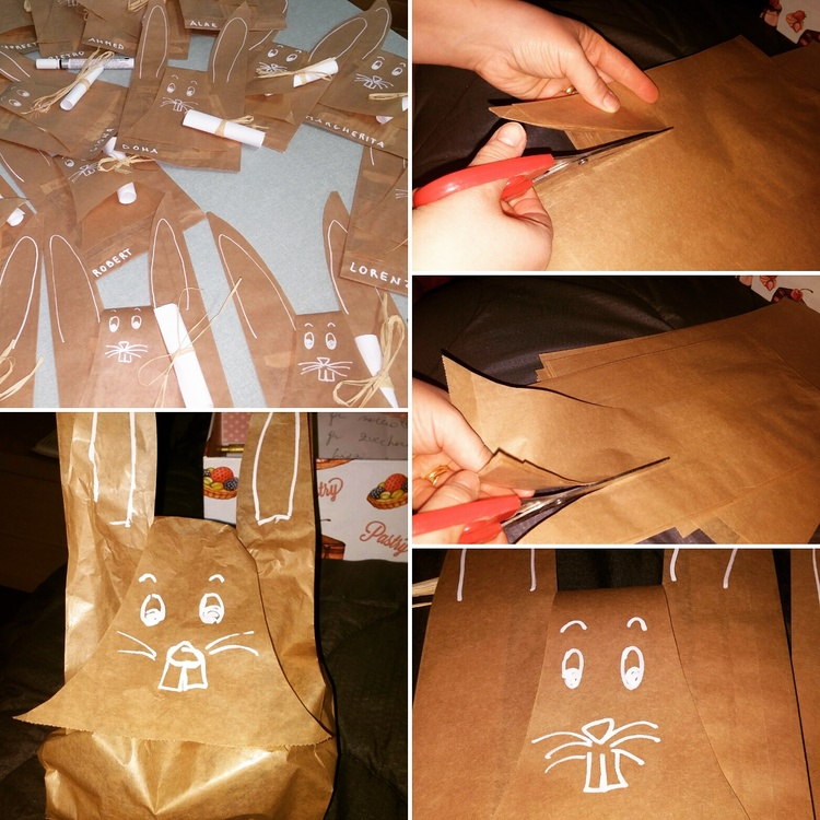 Sacchetti per ovetti di Pasqua carta e cartone creativapp Pasqua fai da te