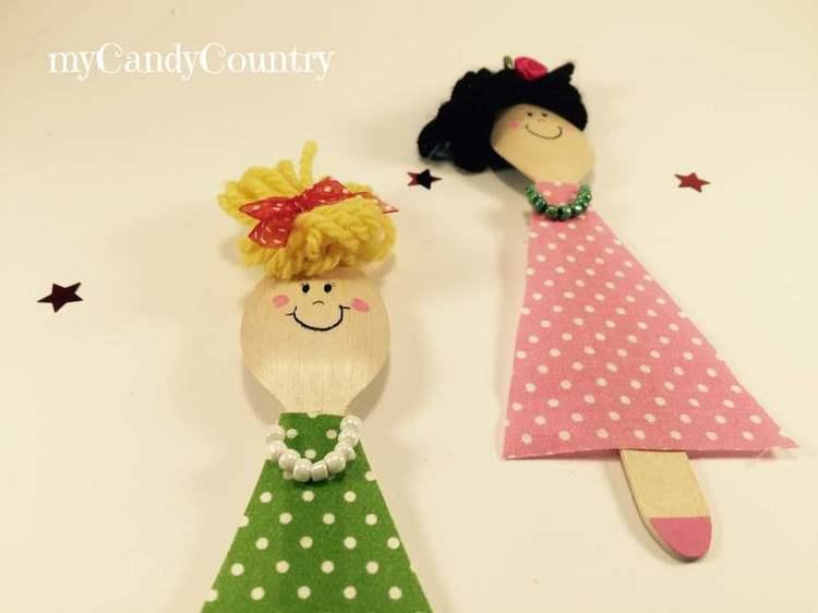 Bamboline fai da te per la Festa della Mamma Festa della mamma fai da te legno e natura Riciclo Creativo