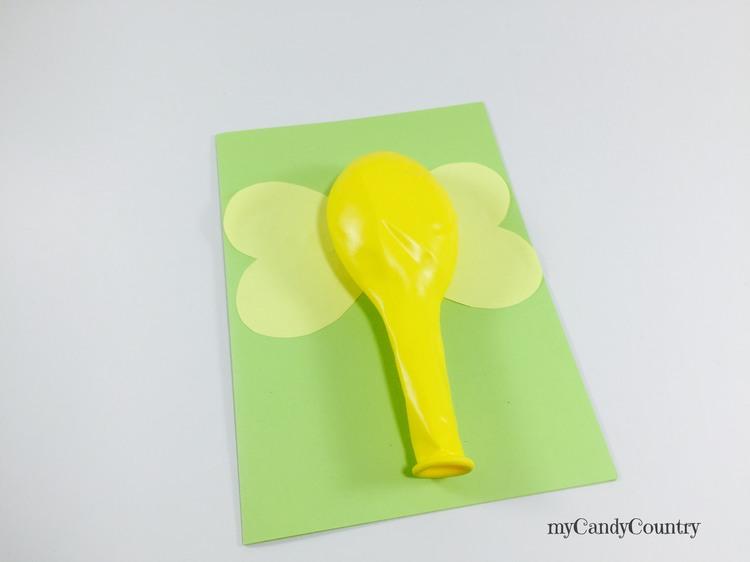 Biglietto regalo fai da te utilizzando un palloncino bambini carta e cartone Compleanni fai da te