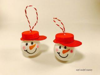 Pupazzi di neve con palline da Ping Pong 6