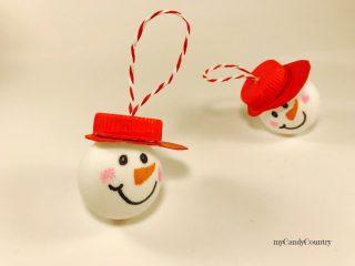 Pupazzi di neve con palline da Ping Pong 8