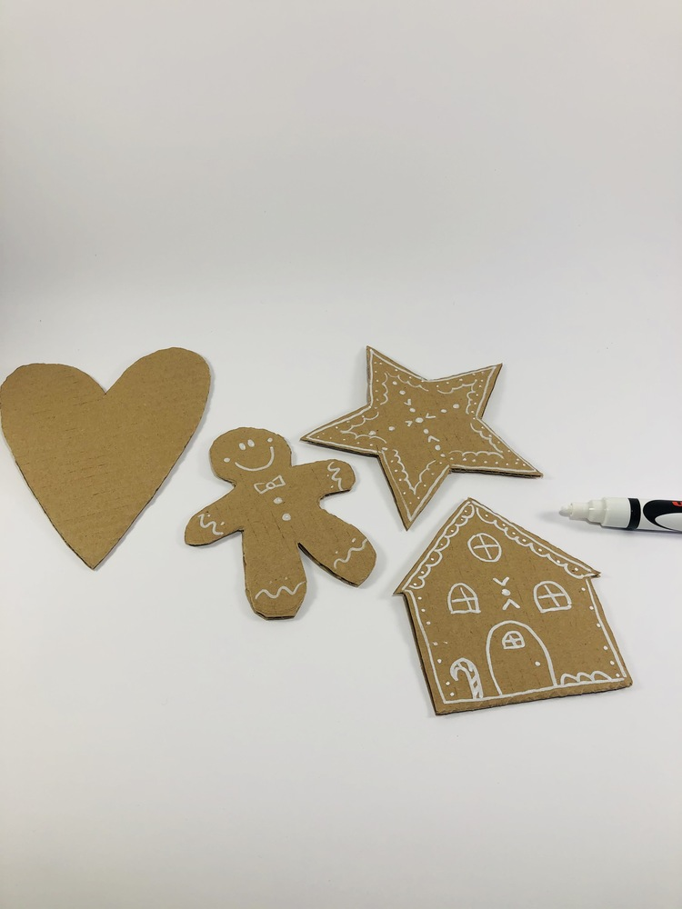 Pan di Zenzero di Cartone, decorazioni natalizie carta e cartone home decor Natale fai da te